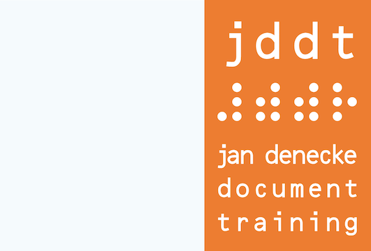 Logo von jddt ⠼⠾⠾⠗ jan denecke document training
