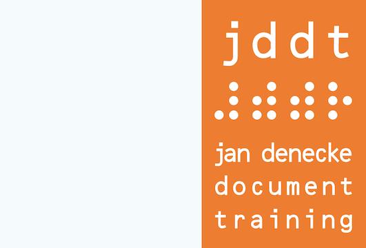 Logo von jddt ⠼⠾⠾⠗ jan denecke document training